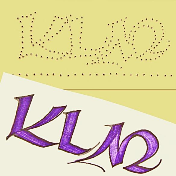 Kathie McIlvride, Uncial monogram.