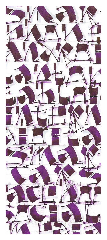 Button alphabet, Violet Smythe
