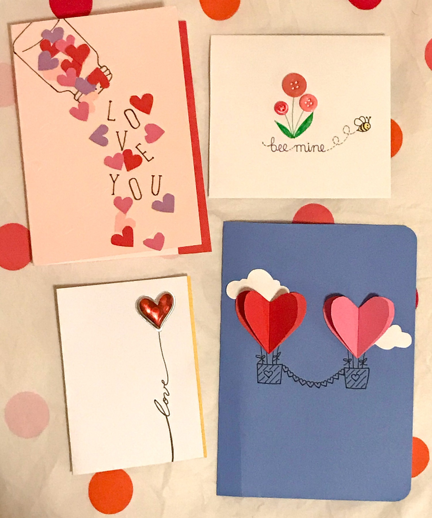 Valentine cards, Isobel Simpson